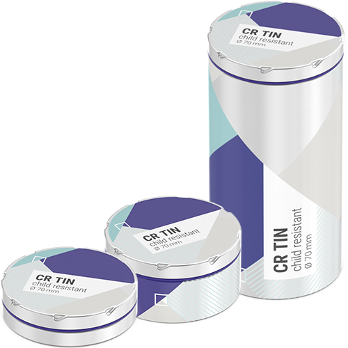 CR Tin Family - packaging for Cannabis and Edibles, Herbs, Flowers and Pouches